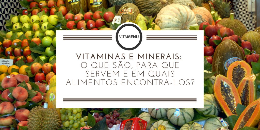 VITAMINAS E MINERAIS  – Blog