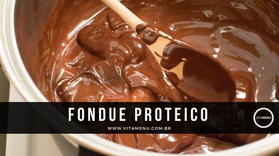 Receita: Fondue De Chocolate Rico Em Proteína