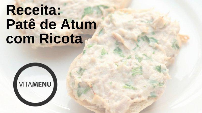 [Receita] Pate De Atum Com Ricota.