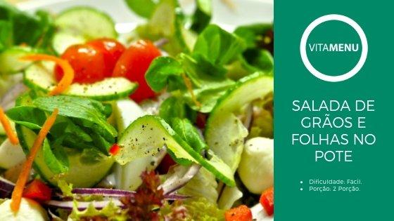 [Receita] Salada De Grãos E Folhas No Pote