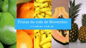 Frutas da Epoca Novembro