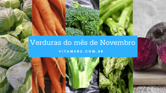 Verduras da época de Novembro