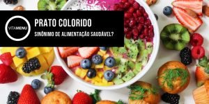 prato colorido para uma alimentação saudável