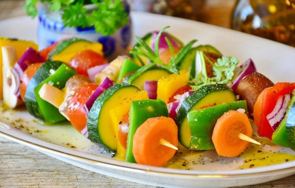 espeto de legumes
